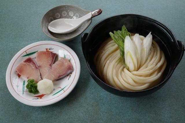 5さぬき麺業松並店さん(オリーブハマチうどんしゃぶしゃぶ).JPG